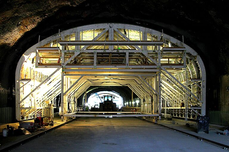 Tunnel lining form gantry East Bound Enlargement Idaho Springs, CO 1-70 Tunnel
