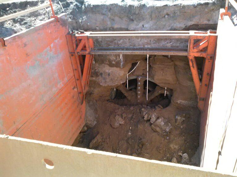TBM hole through, Dakota Avenue Outfall Tunnel