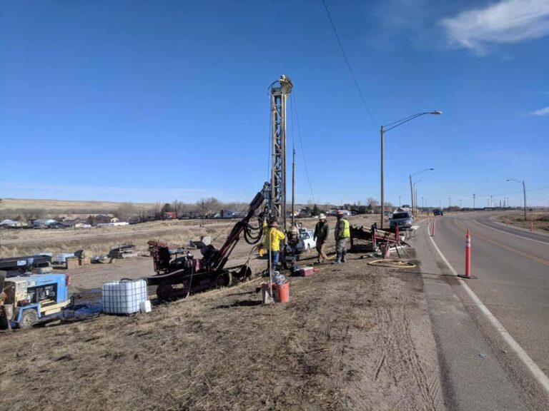 Drilling next to I-25