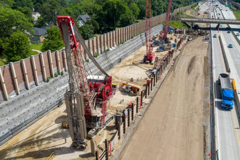 I-35W Stormwater Storage Project Construction