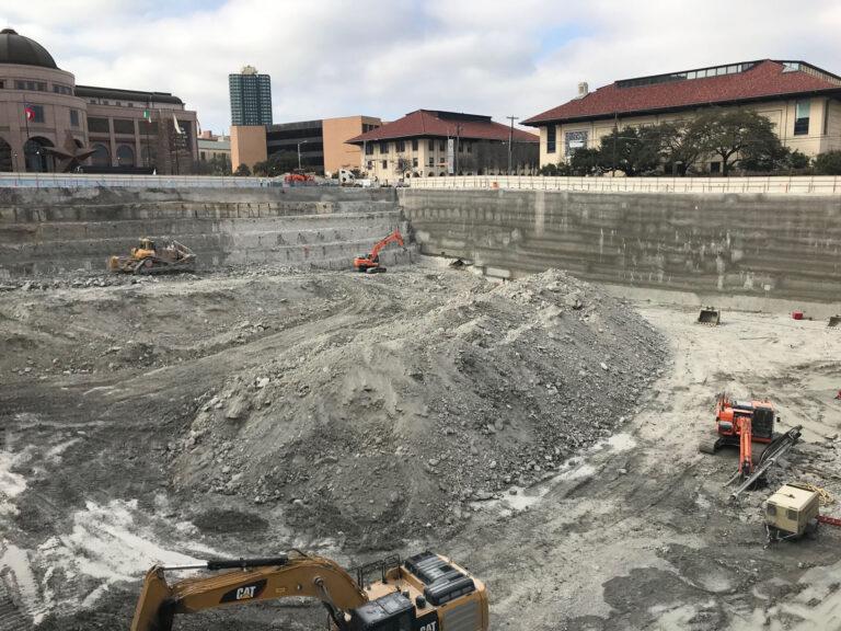 Capitol Complex Phase I excavation, Austin, TX