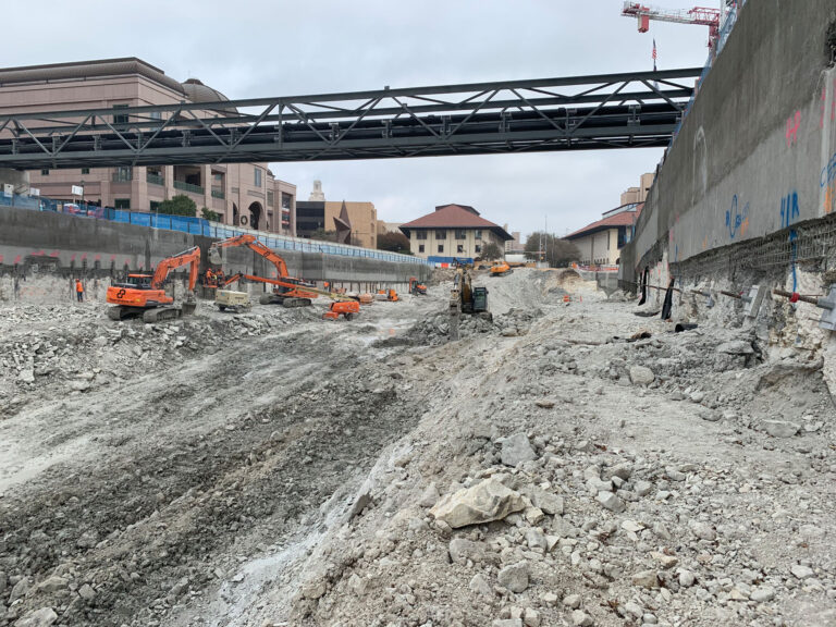 Utility Support Trestle Capitol Complex Phase I excavation, Austin TX