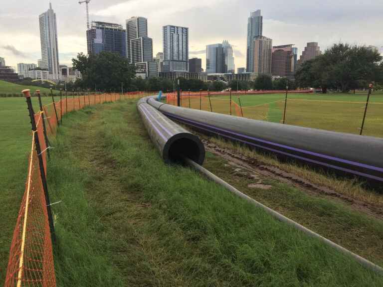 HDPE laid out and ready to install, Austin, TX