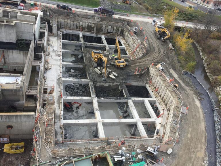 Excavation work, Binghamton-Johnson City, WWTP Restoration