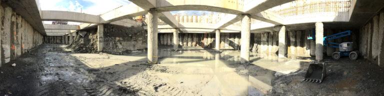 View of Backwash Tank Excavation,Binghamton-Johnson City, WWTP Restoration