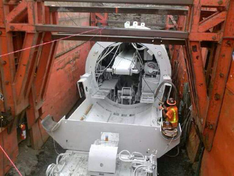 Back side of TBM, Dakota Ave Outfall Tunnel, Denver CO