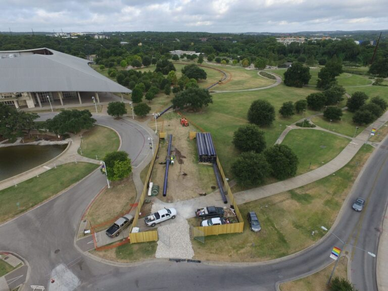 HDPE Pipe Fusing Site for HDD, Reclaimed Water System Austin, TX,