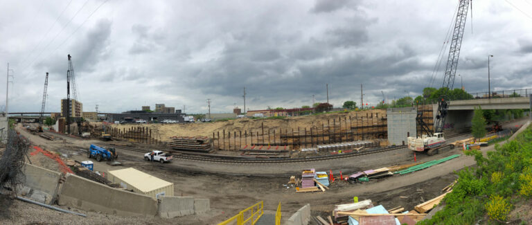 View of rail construction
