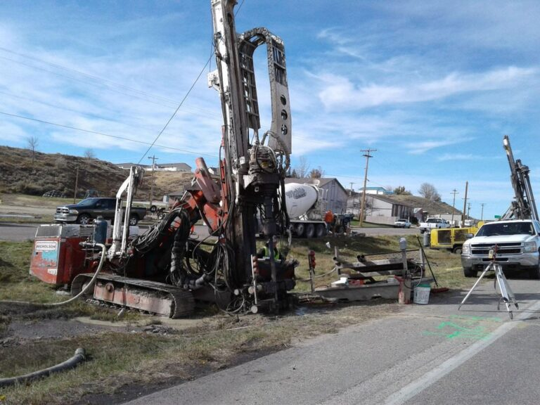 Grout injection next to highway,Glenrock ,WY