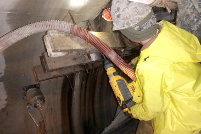 Drilling for water relief fixture in tunnel wall