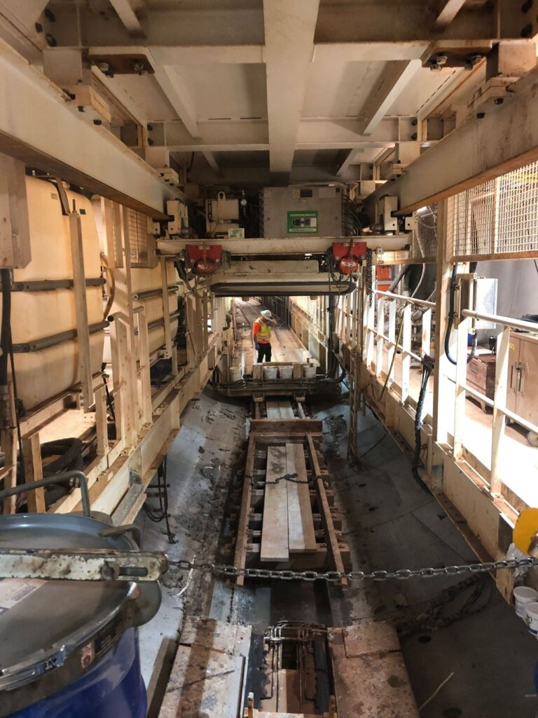 Inside view of TBM