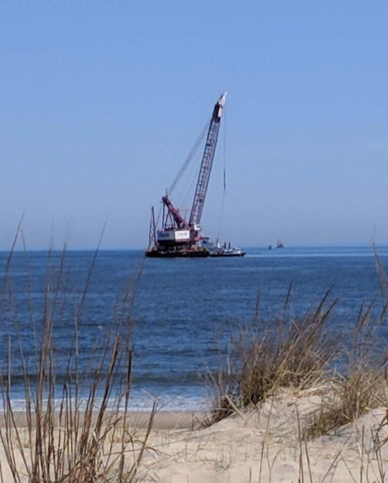 Offshore barge , Rehoboth Beach,DE