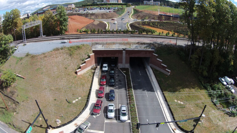 Wards Road View Completed Liberty University Box Tunnels