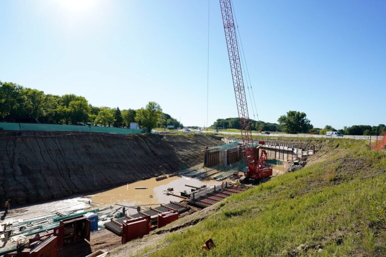 Support of Excavation for tunnel to pass under existing road