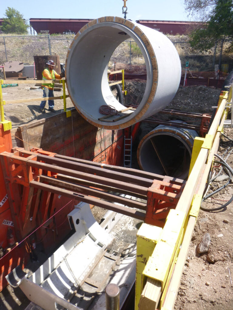 Adding Reinforced Concrete Pipe (RCP) segment, Dakota Avenue Outfall Tunnel