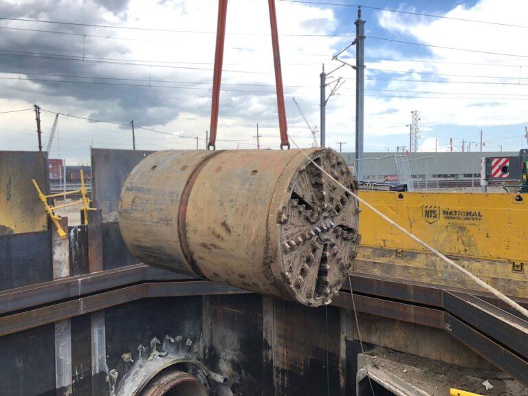 MTBM retrieval, Globeville Landing Outfall Tunnels