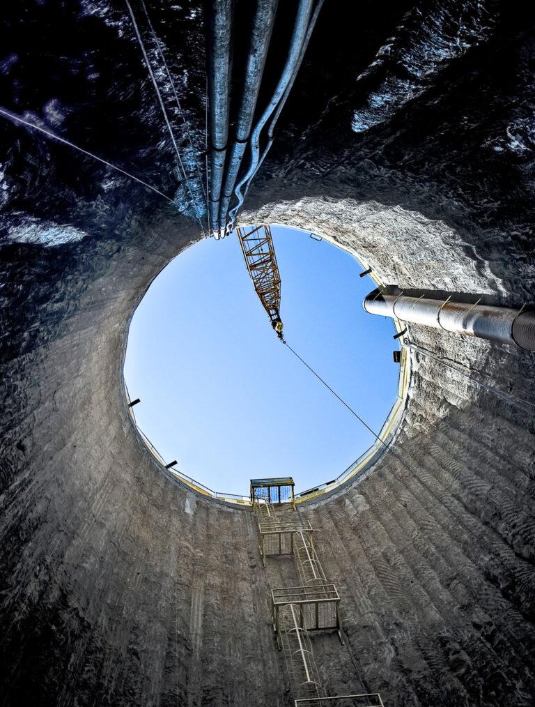 Vargas Shaft Looking Up, New Irvington Tunnel