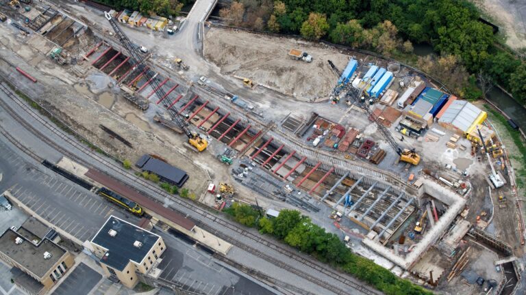 Aerial View During Construction-Photo by American Aerial Services