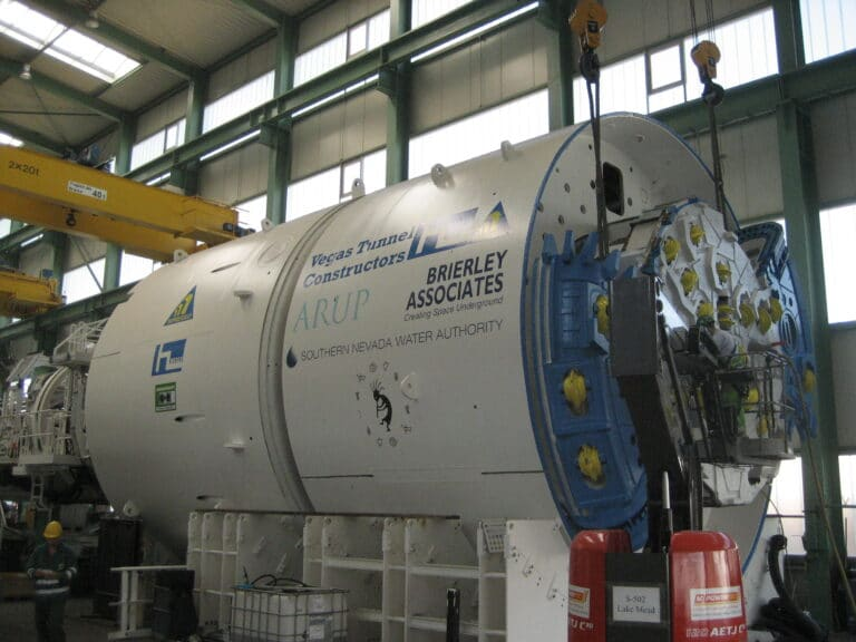 TBM in Shop prior to launching at Lake Mead