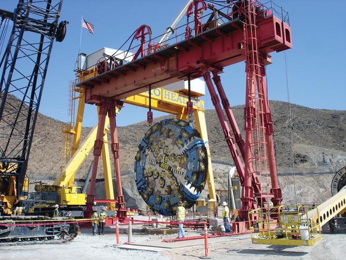 Lake Mead Gantry Crane Above Shaft